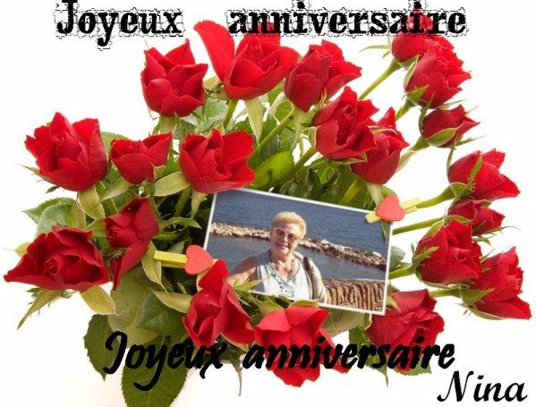 Joyeux Anniversaire Ma Tres Chere Nina L Amitie