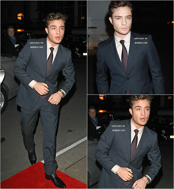 EVENT   C'est avec un air aimable que Ed s'est rendu aux « British Film Awards » le 07 / 02 à Londres. Penses-tu qu'il ait mordu quelqu'un ce soir-là ... ?