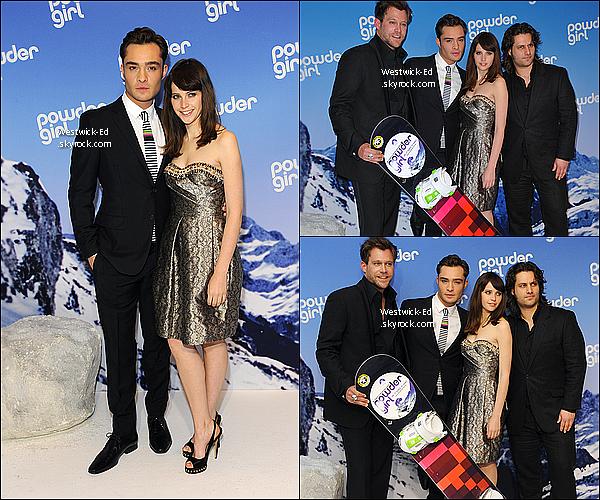 """24/03/11 : Ed & le cast de """"Chalet Girl"""" assistait à la première du film à Munich (Allemagne). Tu aimes sa cravate?"""