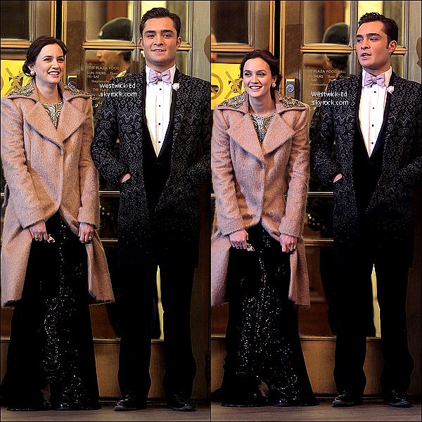 Le 07 Mars, Ed & Leighton (Blair Waldorf) sur le tournage du dernier épisode de la saison 4.  Blair Waldorf et Chuck Bass (Chair) de nouveau ensemble? Aimes-tu ce couple? Mon avis : C'est LE couple de GG, je les adore ♥