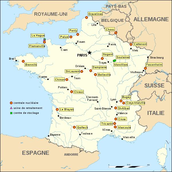 Centrales nucléaires en France et dans le Monde !
