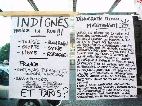 Mouvement des Indignés !