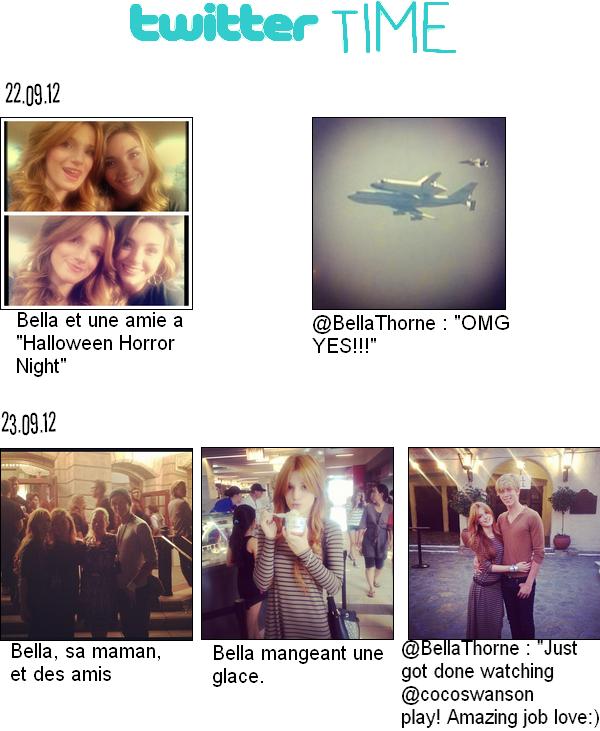 News de Bella du : 22.09.12 et du 23.09.12