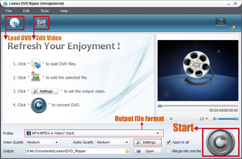 The simplest technique to rip a DVD