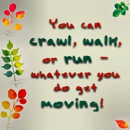 Keep moving on