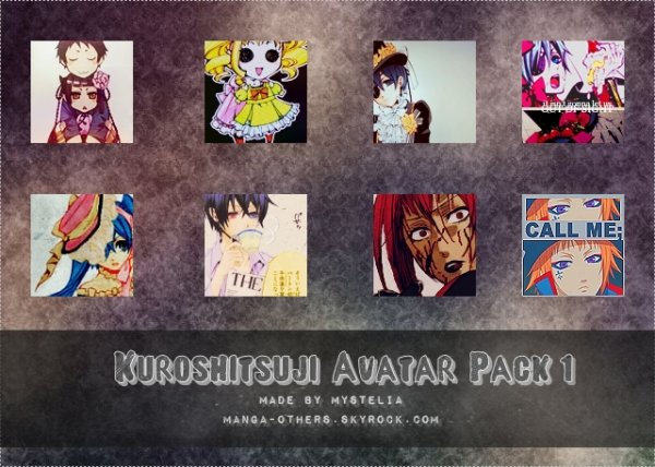 Pack d'Avatars Kuroshitsuji 1