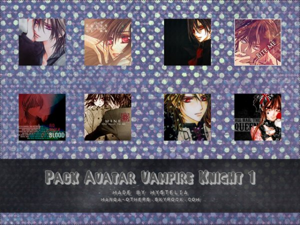 Pack d'Avatars Vampire Knight 1