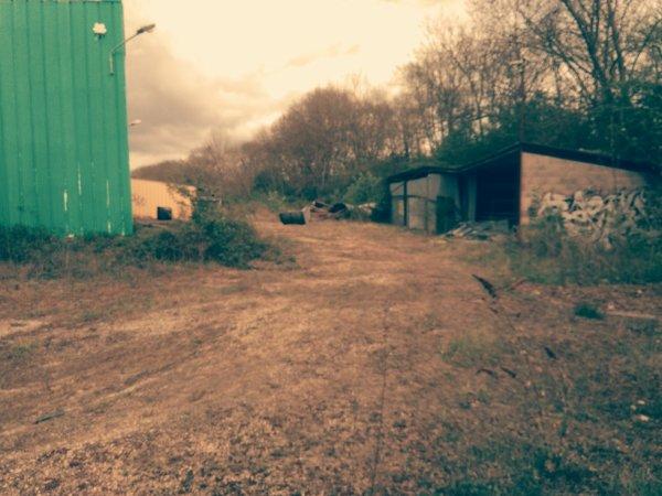 Vu extérieur de ce lieux abandonné