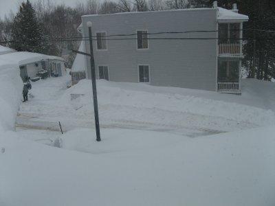 encore de la neige.