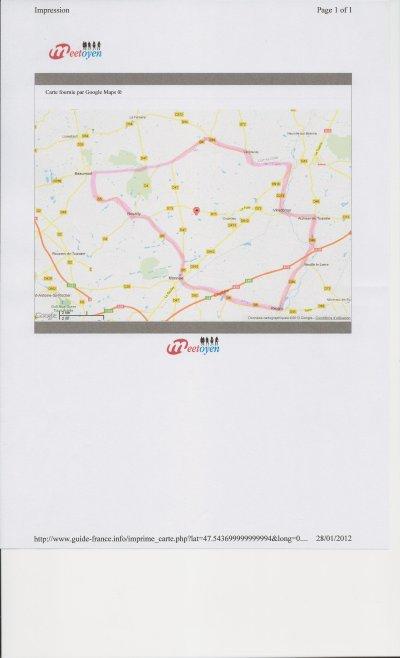 Parcours entrainement du 04 février 2012