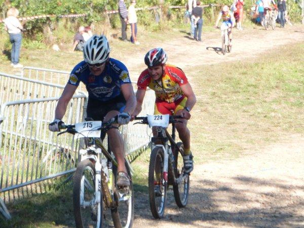 Championnat de France VTT Masters à St Martin d'Auxigny le 30 septembre 2012