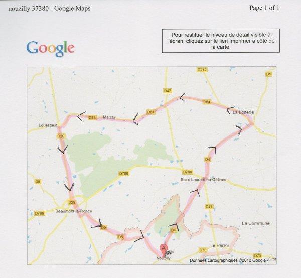 Parcours entrainement du 15 décembre 2012