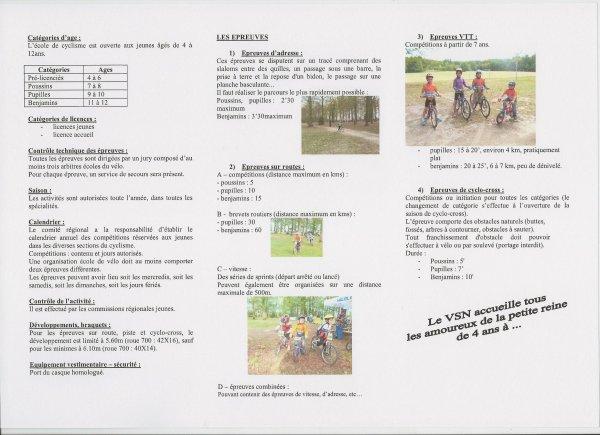 Reprise Entrainement Ecole de Vélo