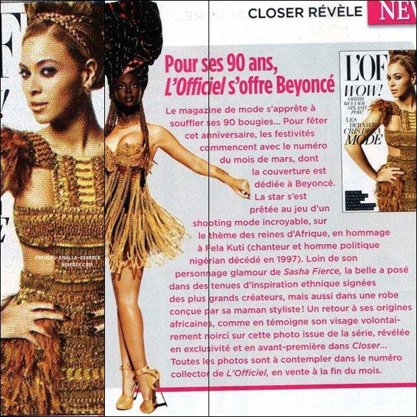 """. Aperçu de """" Closer """" au sujet du photoshoot pour la cover d'un magasine français ."""