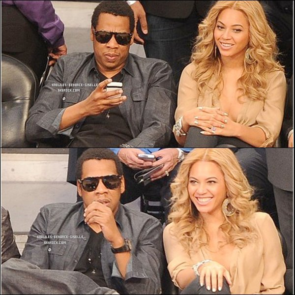 - 20/02/2011 : Beyoncé et son mari Jay-z ont assistés à un match de la NBA All-Star Game au Staples Center   -