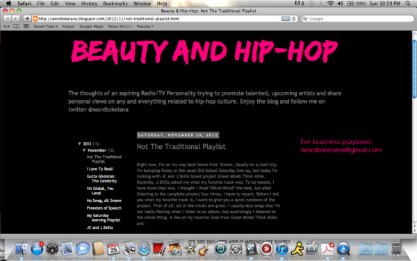 NEW BLOG FEATURE BEAUTY AND HIP-HOP