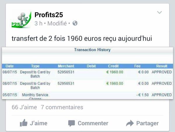 Profits25 site rémunérateur.