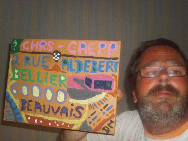 Une petit photo de moi à Creil, fait le mecredi 14 juin 2017 ( un tableau de Beauvais )