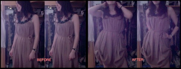 BEFORE/AFTER : DIY ReShape A Dress