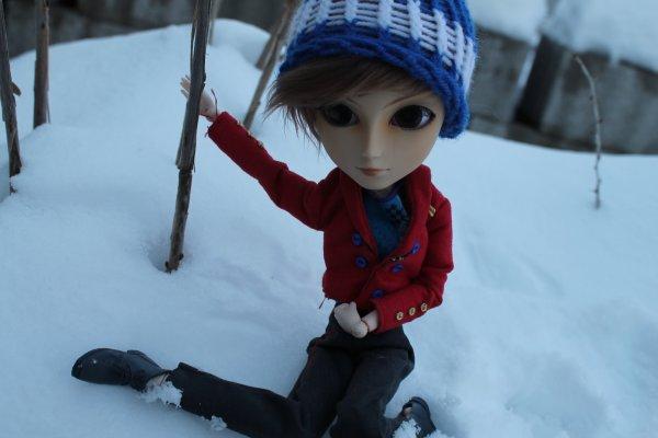 Séance photo dans la neige
