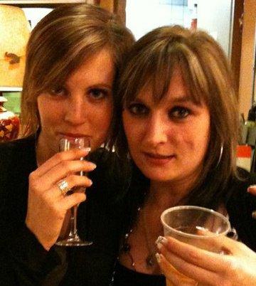 Ma choupinette et moi ... ( A mon anniversaire trés trés arrosé) ...