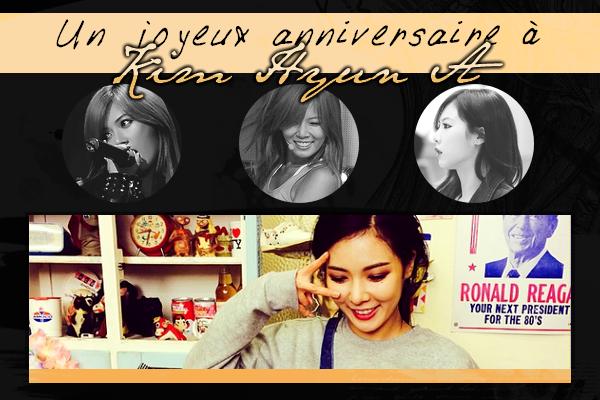 Un joyeux anniversaire à Hyun A