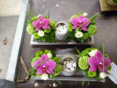 montage avec orchidee