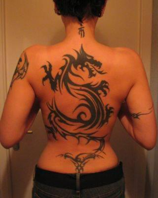 Tatoo Dos Dragon Tribal Tatouages Tatoo Le Plus Gros Skyblog De