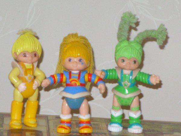 Petites figurines articulees Rainbow Brite, 1983