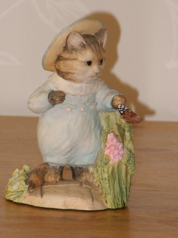 Beatrix Potter - Tom Kitten with butterfly by Border