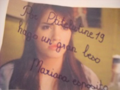 l'autographe de Mariana Esposito !