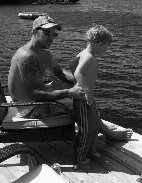 Jeremy et Jaxon Bieber