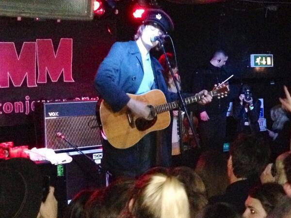 Pete Doherty en concert à Brixton (le : 14 Novembre 2013)