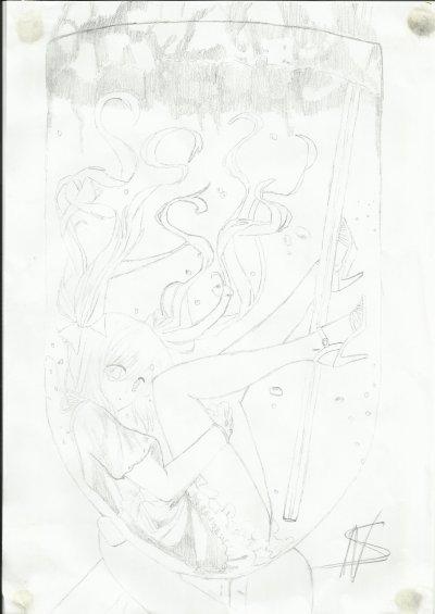 Miku Hatsune dans un verre de Diabolo.