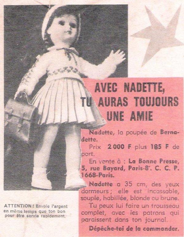 Une jolie petite poupée... Nadette, du Journal Bernadette