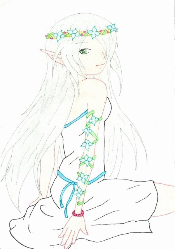 dessin manga elfe