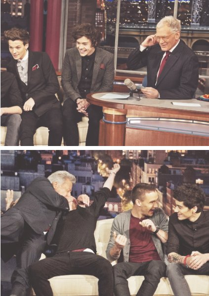 les boys au david letterman show ♥