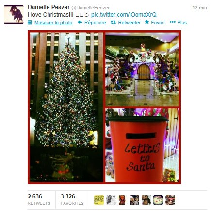 danielle a poster une image special christmas sur twitter ♥♥♥