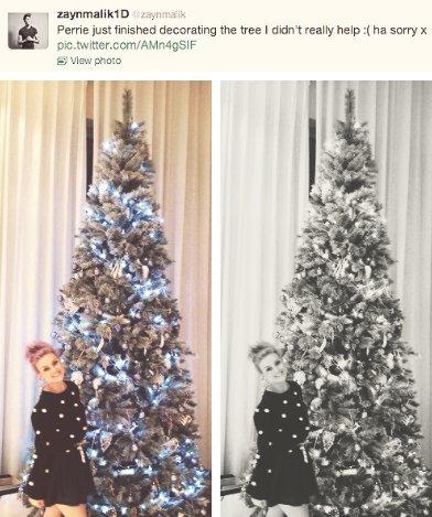 zayn a poster cette photo de perrie avec le sapin ♥♥♥