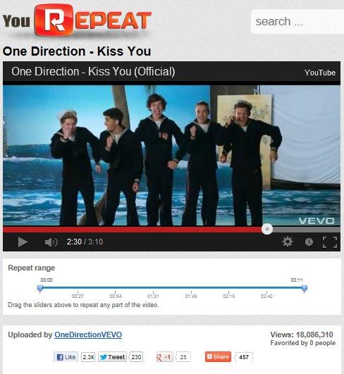 voila le nombre de vue pour le clip Kiss You de nos cher boys ♥