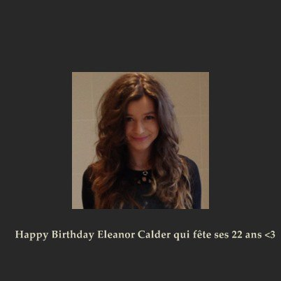 Happy Birthday Eleanor Calder ♥♥♥
