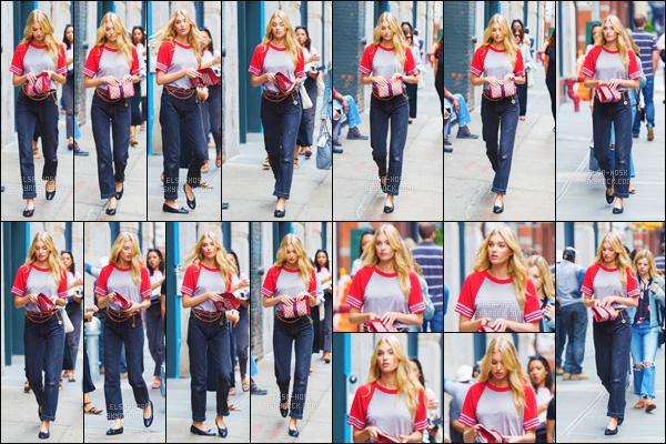 - 23/06/17 - La belle ange vs Elsa Hosk a été aperçue toute seule faisant une  «promenade» dans Soho à New York !La jeune mannequin a une habitude de porter une sublime ou bien une tenue simple. C'est pour cela que je donne un top pour sa tenue. top / flop ?-[/alig fen]