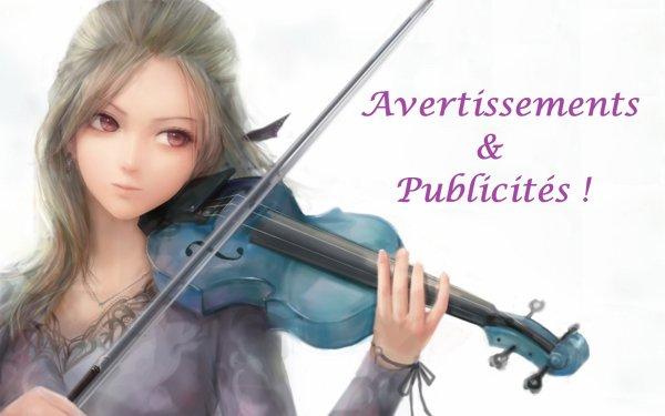 Avertissements et publicités !