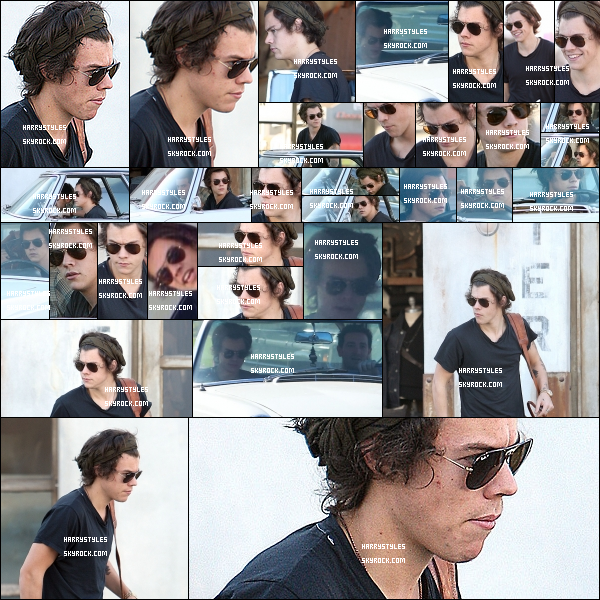 - 20/01/14 : Harry Styles a été photographié par les pap's avec un amis  toujours à Los Angeles. j'aime vraiment la tenue d'Harry, pour ce coup là il nous fait  un jolie top, sa voiture est stylé je trouve et lui va bien je trouve.! -