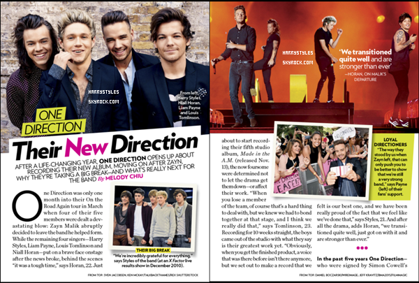 Découvrez des scans du Magazine People's de Novembre 2015 !