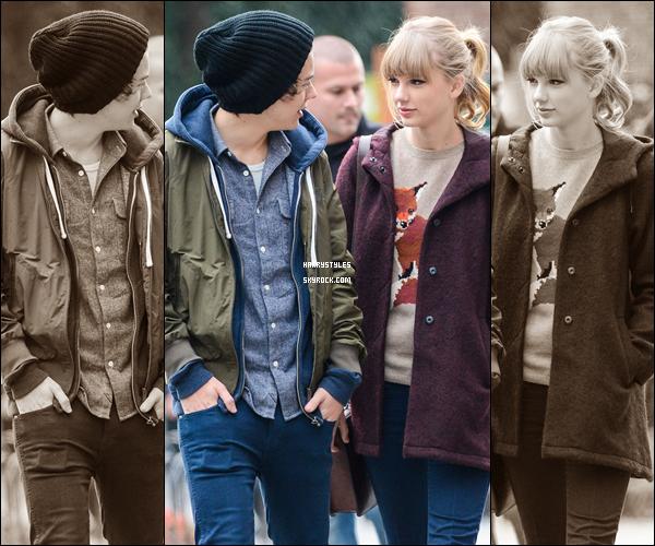 02.12.2012 - Harry S. en compagnie de Taylor Alison Swift dans la ville de  New York. pas d'avis juste une déception totale que Harry soit avec une fille comme elle mais bon tant qu'il est heureux.