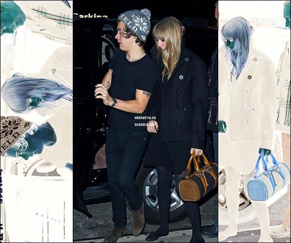 01.01.2013 - Harry S. en compagnie de Taylor Alison Swift retournant à l'hôtel à New York. pas d'avis juste une déception totale que Harry soit avec une fille comme elle mais bon tant qu'il est heureux.