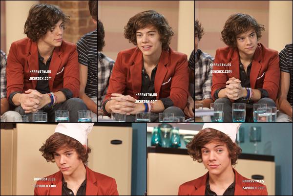 16.09.2011 - Les garçons ont assisté à une émission de cuisine dit This Morning !