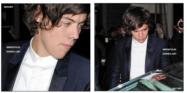 09/01/13 : H. Styles a encore assisté - au dîné de GQ Men organisée par « GQ Men », dans Londres ! Il a été vu arrivant avec un beau costume, les journalistes l'ont aussi pris à la sortie du dîner. Chaque année H s'y rend !