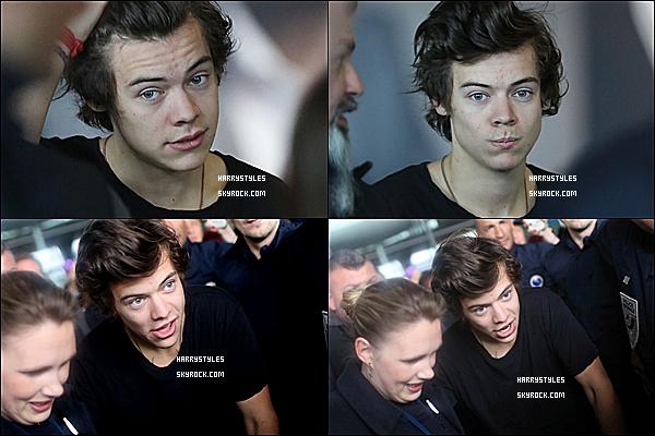 28/10/13 : Harry Styles est arrivé avec les boys acclamés dans « Charles de Gaulles Airport », dans Paris. Plus tard il  a été vu se promenant dans la ville des amoureux qu'est Paris. Un gros gros top. Harry est vraiment trop mignon !